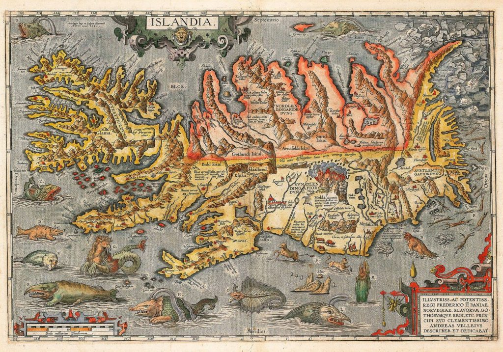 Map of Medieval Iceland