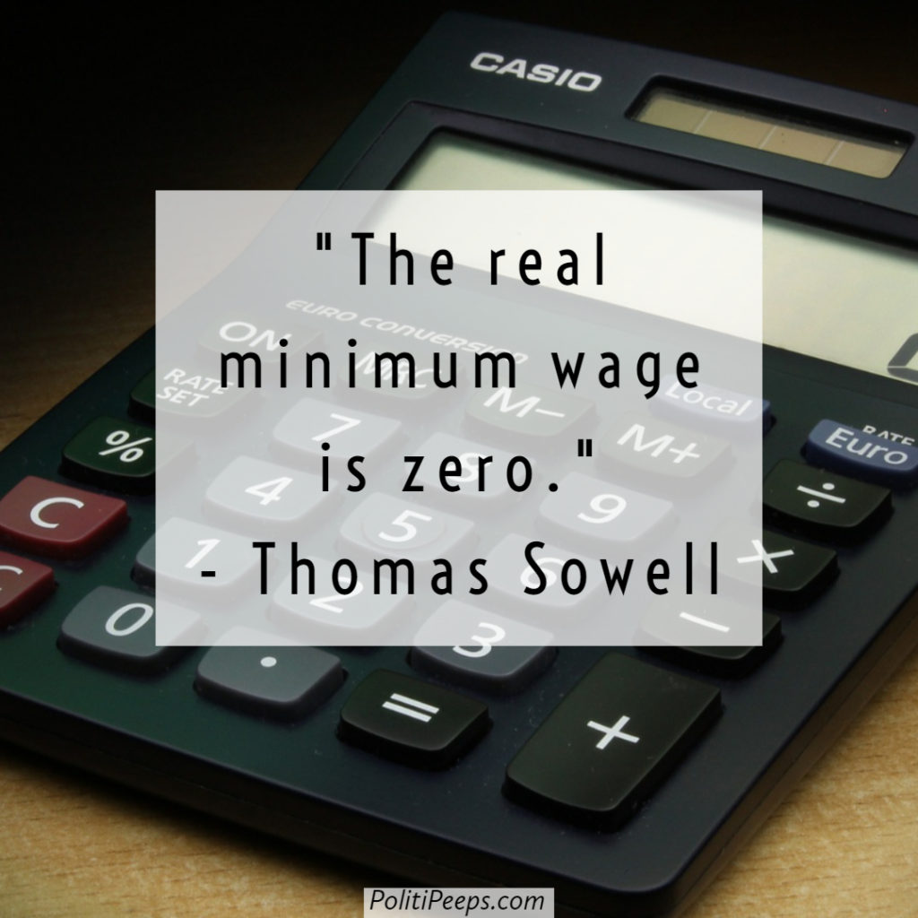 The real minimum wage is zero.
